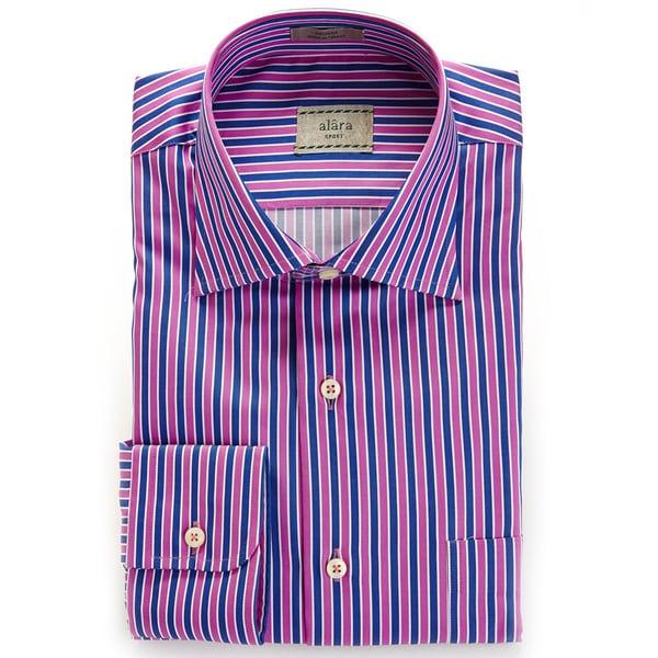Alara Multi Satin Stripe Egyptian Cotton Shirt