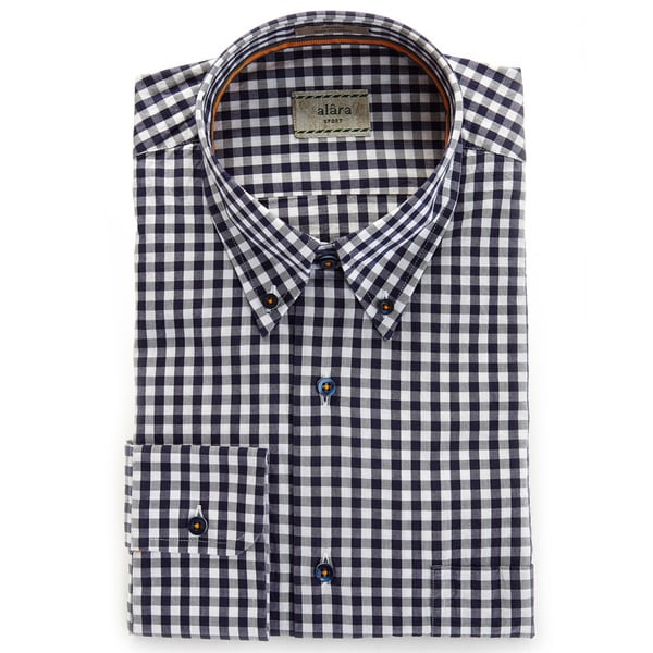 Alara Navy Air Washed Check Shirt