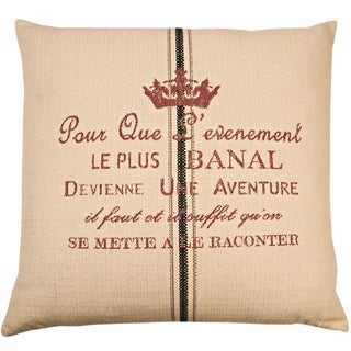 Aventure Decorative 24-inch Throw Pillow