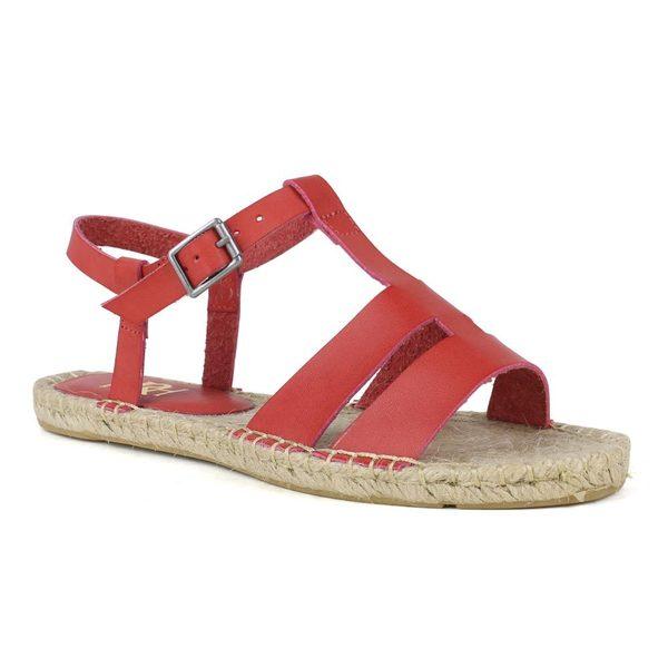 Fahrenheit Women's Leanne-02 T-strap Espadrille Sandal
