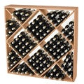 Jumbo Bin 120-Bottle Natural Wine Rack