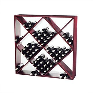 Jumbo Bin 120-Bottle Mahogany Wine Rack