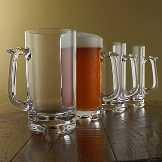 Indoor/Outdoor 34-ounce Beer Tankards (Set of 4)