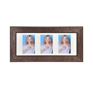 Melannco 3-opening Portrait Brown Collage Frame