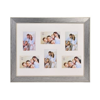 Melannco 6-opening Silver Portrait Collage Frame