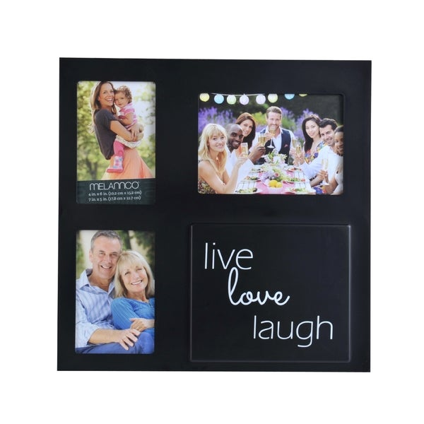 Melannco 3-opening Black Sentiment Collage Frame