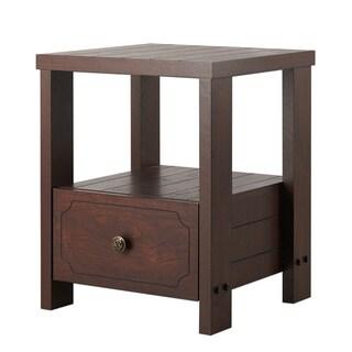 Furniture of America Rellia Vintage Walnut 1-Drawer End Table