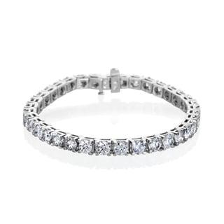 14k White Gold 12 1/5ct TDW Diamond Tennis Bracelet (G-H, I1-I2)