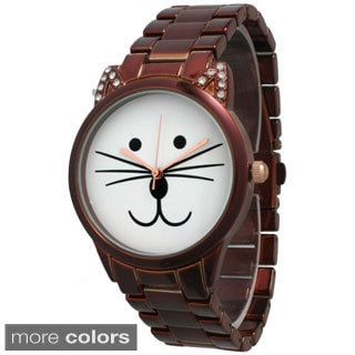 Olivia Pratt Women's Purrfect Cat Bracelet Band Watch