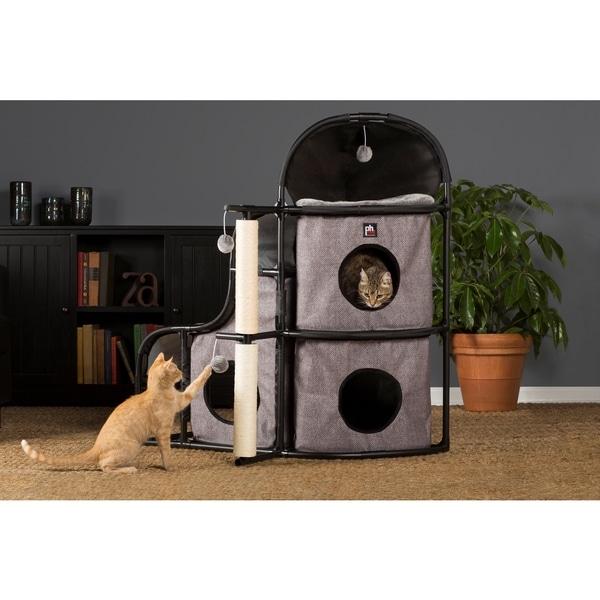 Prevue Pet Products Catville Bungalow Grey 7230
