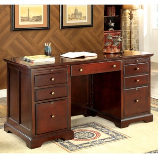 Furniture of America Ericks Cherry Executive Desk