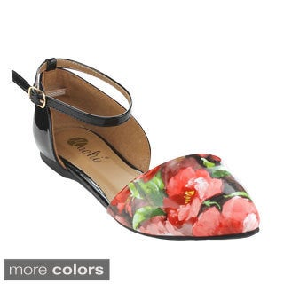 Machi NF-SPRUE-1 Women's Floral D'orsay Flat