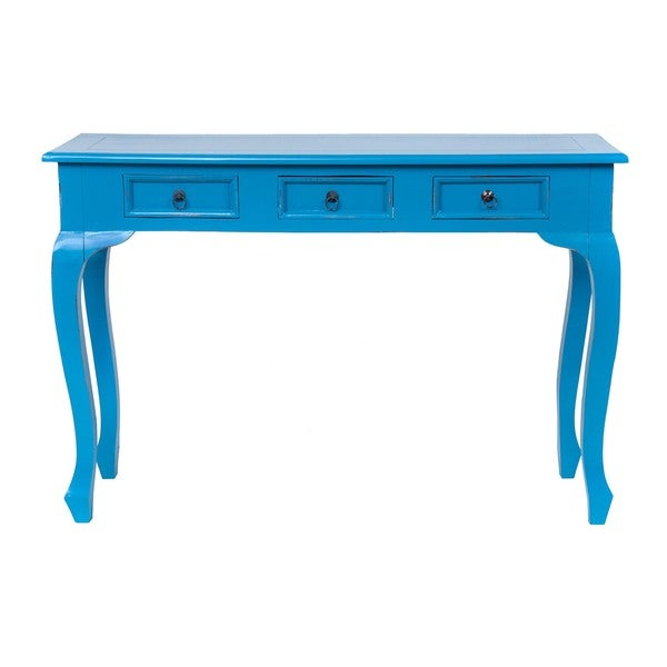 Decorative Cheshire Casual Blue Rectangle Console Table