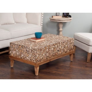 Decorative Dundee Rustic Off-white Rectangle Coffee Table