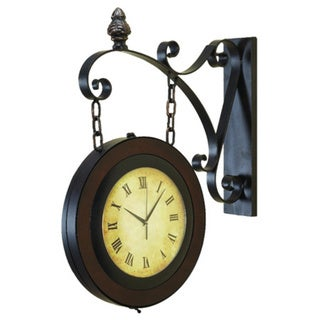Metal Wall 2-sided Clock