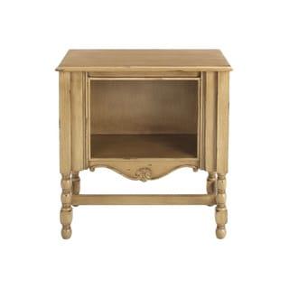 Decorative Cloverdale Casual Tan Square Accent Table
