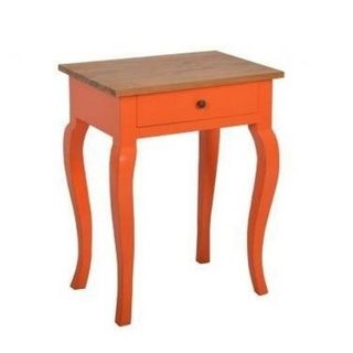 Decorative Dorena Casual Orange Square Accent Table