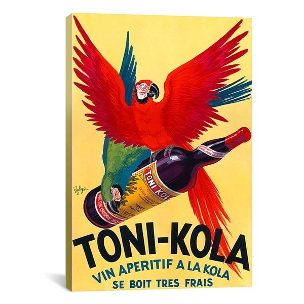 iCanvas Toni-Kola Advertising Vintage Poster Canvas Print Wall Art