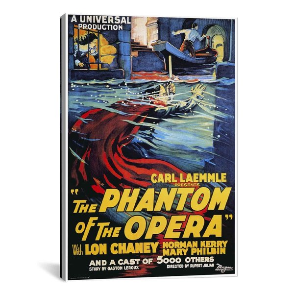 iCanvas The Phantom of The Opera Advertising Vintage Poster #5260 Canvas Print Wall Art