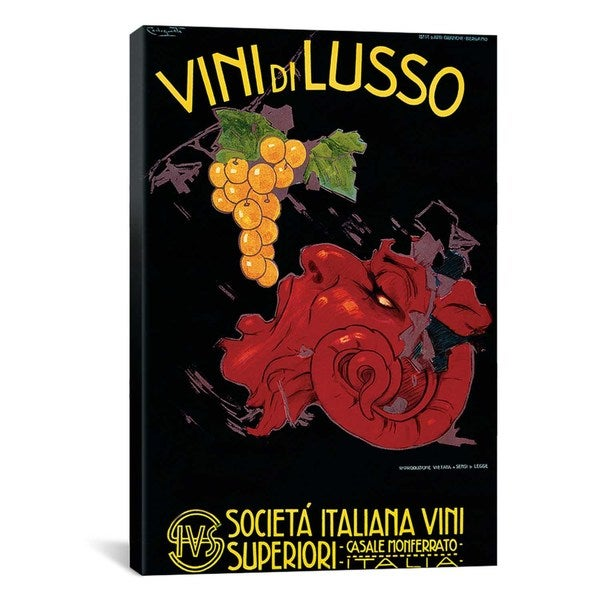 iCanvas Vini Di Lusso Advertising Vintage Poster Canvas Print Wall Art