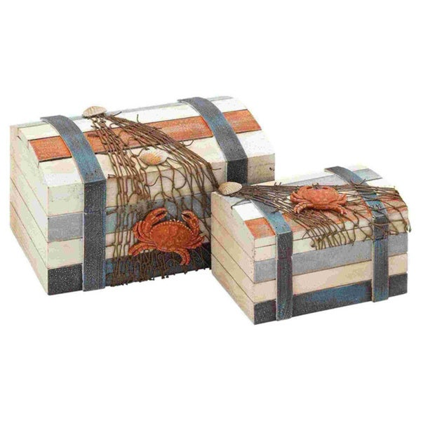 Box Accented with Shipwreck Salvage Features (Set of 2)