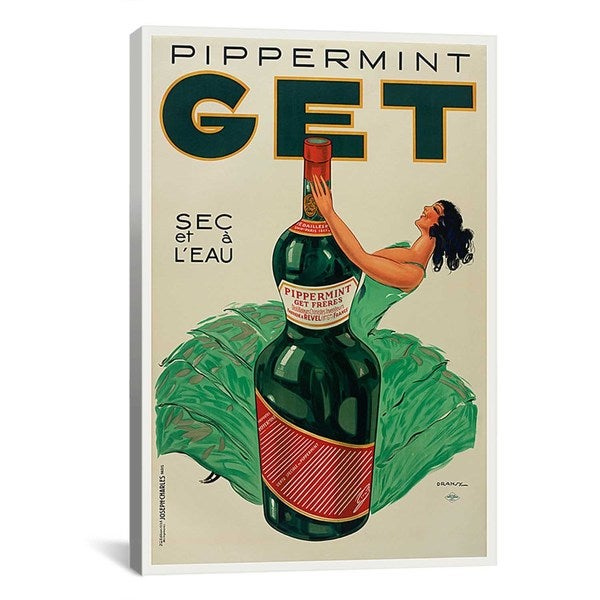 iCanvas Pippermint Get Advertising Vintage Poster Canvas Print Wall Art