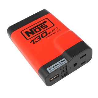 Power Station NOS NIN13001 Slimline 130 Watt Power Inverter with One AC Outlet and One USB Port
