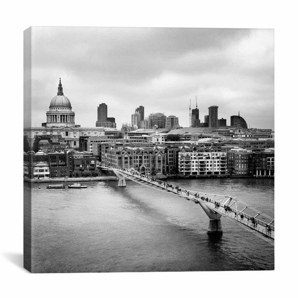 iCanvas Nina Papiorek London Millenium Bridge Canvas Print Wall Art
