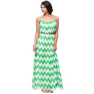 Jessica Howard Missy 1-piece Sleeveless Pleat Neck Belted Blouson Maxi Dress