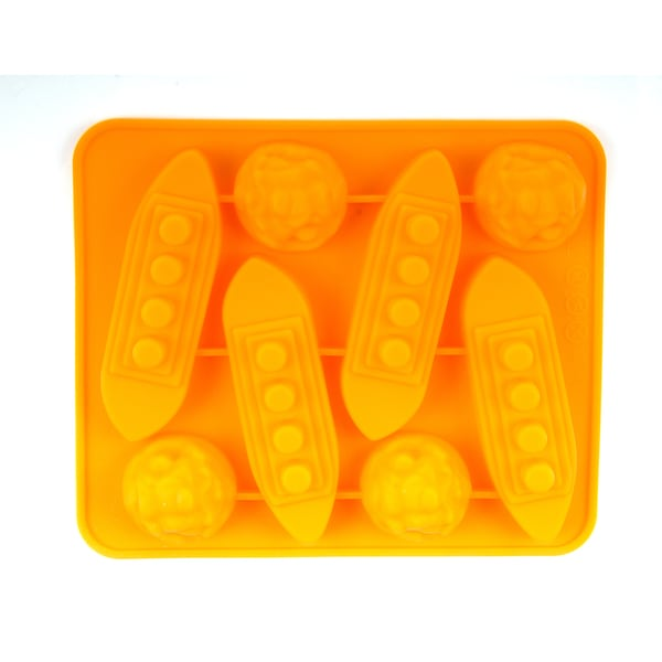 2 PACK Silicone Ship and Icebergs Shape Mold/tray - Good for Baking, Cooking and Molding!!!