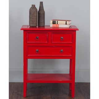 Decorative Kent Casual Red Square Accent Table