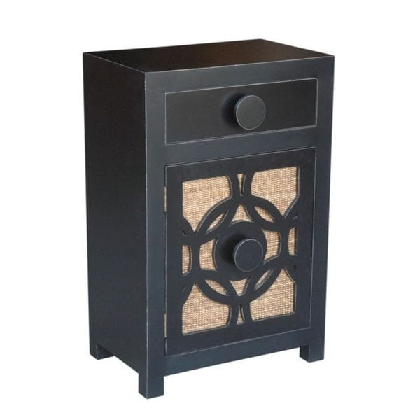 Decorative Prescott Casual Grey Square Accent Table