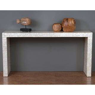 Decorative Selma Modern Off-white Rectangle Console Table