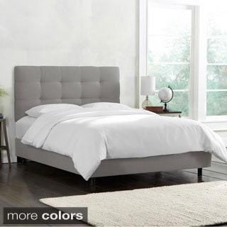 Linen Tufted King Bed