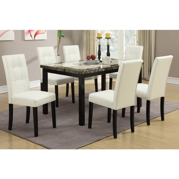 Willow white cream dining chairs set of 6 17213581 for Cream dining room chairs sale