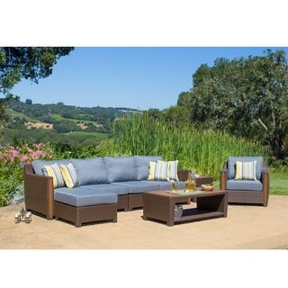 Corvus Martine 8-piece Outdoor Resin Wicker Sofa Set