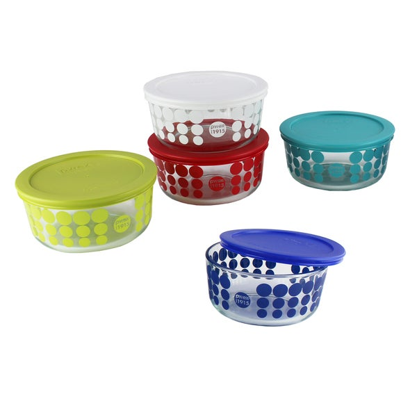 Pyrex 10-piece Simply Store Glass Food Storage Set (100 Year Limited Edition)