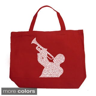 LA Pop Art Jazz Greatest Hits Shopping Tote Bag