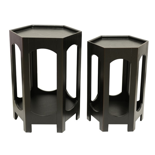 Black Octagon Nesting Tables