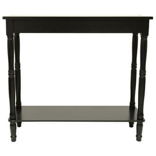 Eased Edge Black Console Table
