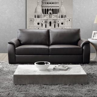 ABBYSON LIVING Ashton Top Grain Leather Brown Sofa