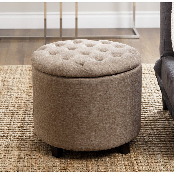 abbyson living avery gold tufted lid top storage ottoman