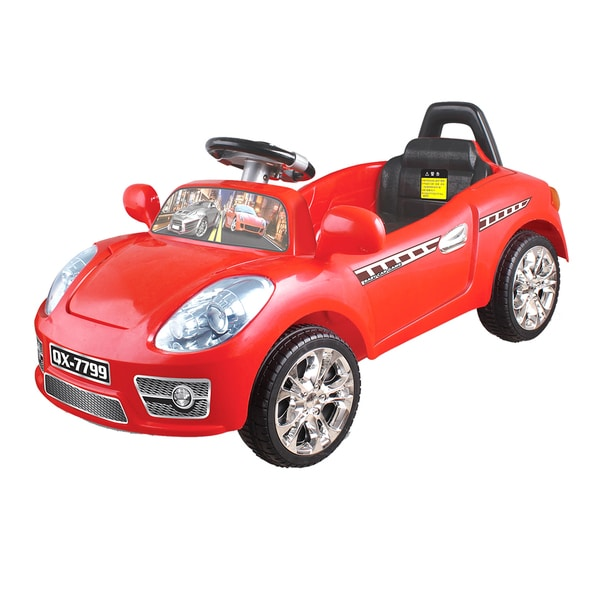 Joy Riders Red Canary R/C Sports Coupe Ride-On