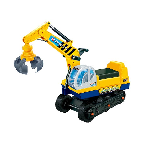 Joy Riders Kids Ride-On Manual Crane Construction Vehicle