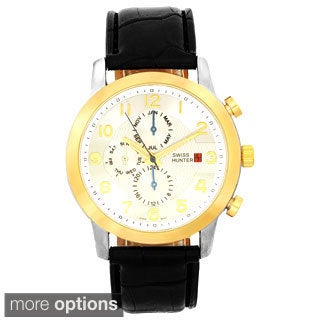 Swiss Hunter Men's Leather Fashion Watch