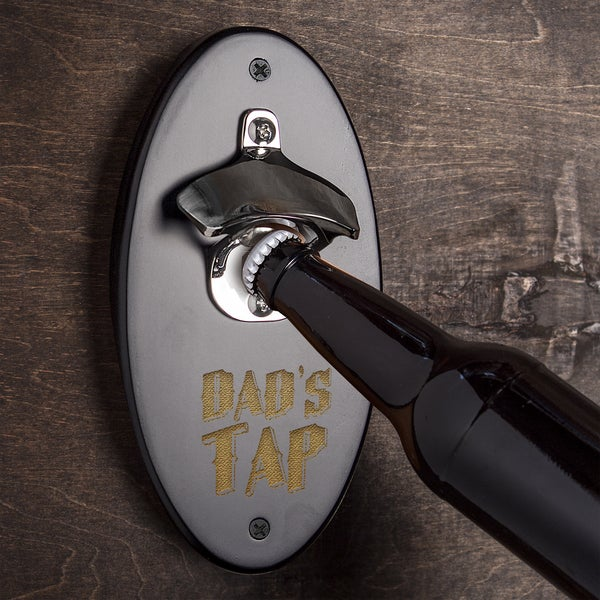 Dad's Tap Black Wall Mounted Bottle Opener