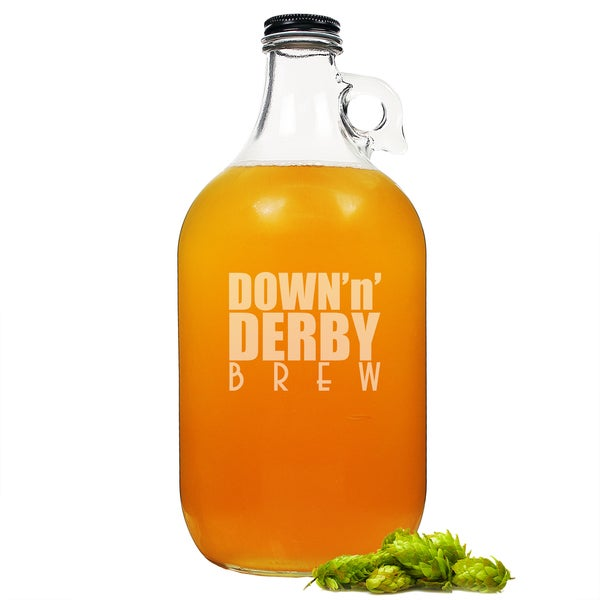 Kentucky Derby Glass Growler