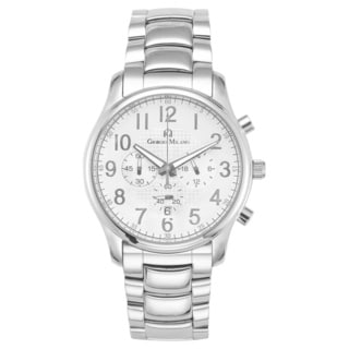 Lima by Giorgio Milano Stainless Steel Luxury Silver Watch Chronograph