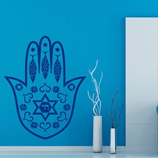 Blue Hamsa Fatima Hand Sticker Vinyl Wall Art