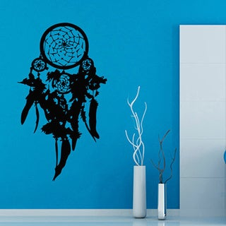 Dream Catcher Dreamcatcher Black Vinyl Wall Art